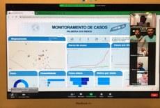 Registro da entrega on-line da plataforma de monitoramento de casos de Covid-19